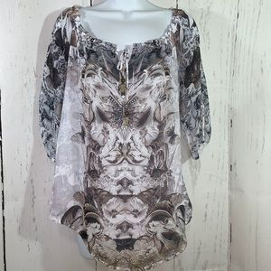 Live and Let live women's boho top size  S